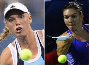 """Simona Halep s-a oprit în semifinale la Stuttgart după un meci uluitor cu daneza Wozniacki. Partida a semănat cu finala de la Roland Garros din 2014. Prima reacţie a româncei: """"Zâmbesc pentru că am făcut un meci bun"""""""