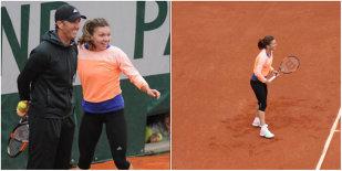 FOTO | Simona Halep a ajuns la Roland Garros. Sportiva s-a amuzat copios la primul antrenament