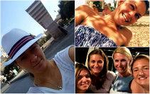 """FOTO   Când meciuri n-ai, vacanţă ai! Din Spania până în Grecia, cu escală la Bucureşti, """"tricolorele"""" se bucură de micile plăceri ale verii: Simona, Irina, Sorana, Alexandra, Andreea şi Monica au dat """"check-in"""""""