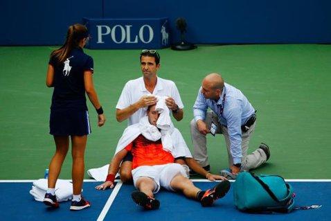 Scene dramatice la US Open. Americanul Jack Sock a leşinat pe teren din cauza căldurii şi s-a retras din competiţie