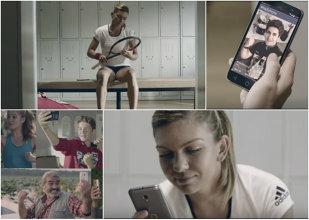 VIDEO | Simona Halep are nevoie de susţinerea fanilor în noua reclamă Vodafone. Cum o motivează mesajele primite înaintea meciului