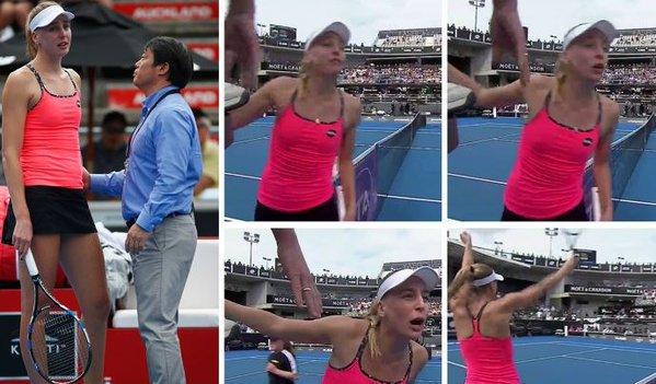 Controverse în tenisul feminin din prima săptămână a sezonului: intenţie sau accident? Circuitul reacţionează prompt, ca în cazul Bouchard - Dulgheru, arătând cu degetul o recidivistă