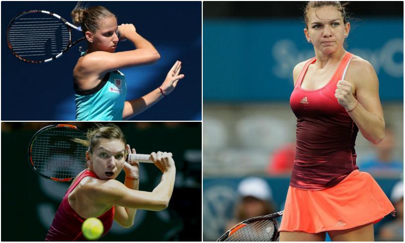 Halep prinde viteză! Simona, în semifinalele turneului de la Sydney, după o victorie în două seturi cu Pliskova! Urmează Kuznetsova