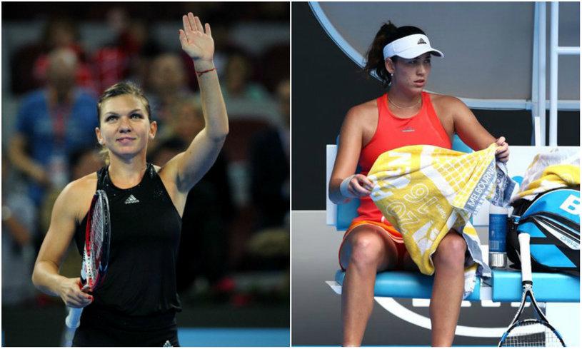 Veste excelentă pentru Halep! Garbine Muguruza a pierdut la Australian Open şi nu o mai poate devansa pe Simona în clasament