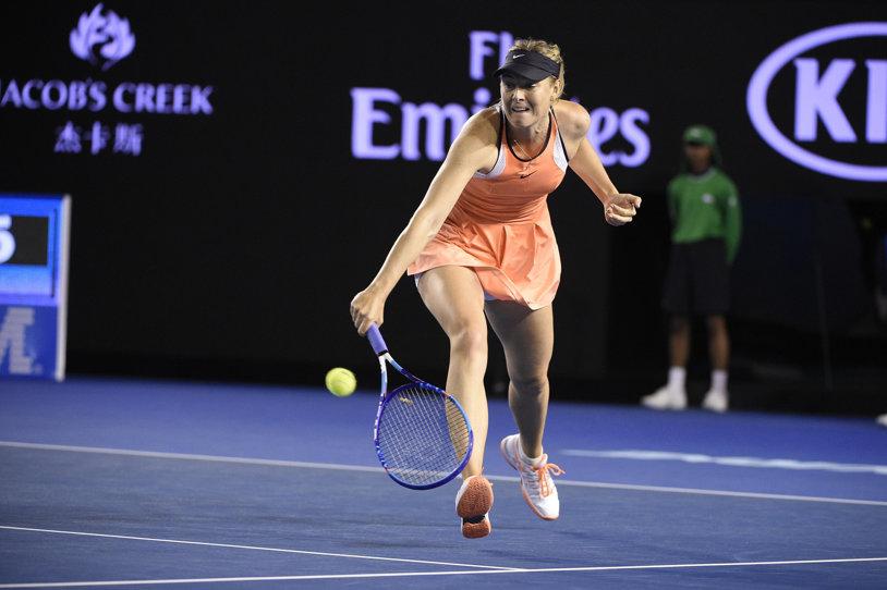 Maria Şarapova a obţinut la Australian Open victoria cu numărul 600 din carieră! FOTO Imagini din timpul partidei cu Lauren Davis