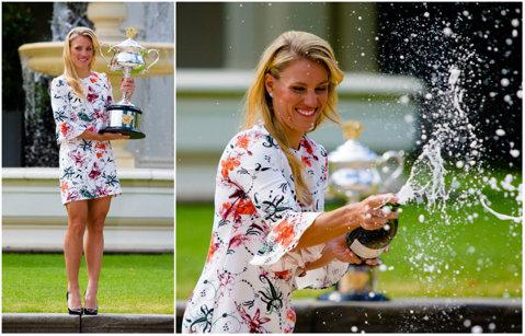 Angelique Kerber, sesiune foto după victoria de la Australian Open! Cum a pozat jucătoarea din Germania | GALERIE