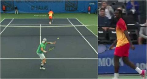 VIDEO | Lovitura anului în tenis!? S-a întors cu spatele la adversar şi a câştigat punctul printr-un truc genial