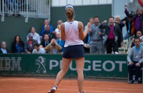IMAGINEA ZILEI | Ilie Năstase s-a bucurat ca în 1973 pentru victoria memorabilă reuşită de Irina Begu la Roland Garros