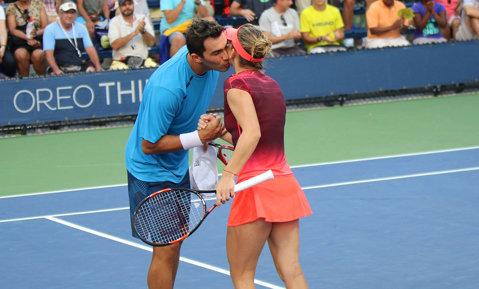 Simona Halep şi Horia Tecău, eliminaţi în primul tur al probei de dublu mixt de la Roland Garros