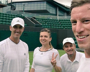 Simona Halep colaborează cu un tenismen britanic la Wimbledon! Cine e sparring-partnerul cooptat de Darren Cahill