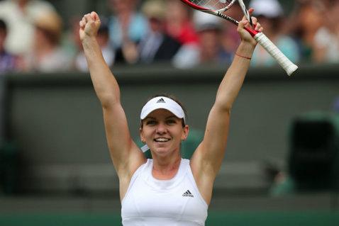 Victorioasă la Wimbledon după doi ani! Halep a îngenuncheat-o pe Schmiedlova şi va întâlni o veterană în turul doi. Begu şi Ţig, eliminate