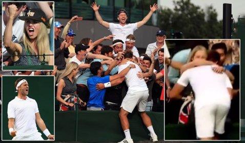 """Când tenisul produce poveşti! Marele Federer va juca la Wimbledon cu un antrenor britanic de tenis, clasat pe locul 772 ATP. Marcus Willis l-a uimit pe """"Mr. Perfect"""": """"E genial"""""""