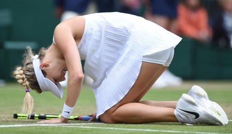 Următorul pas e să joace dezbrăcate. FOTO | Cum a fost surprinsă Genie Bouchard în meciul cu Johanna Konta