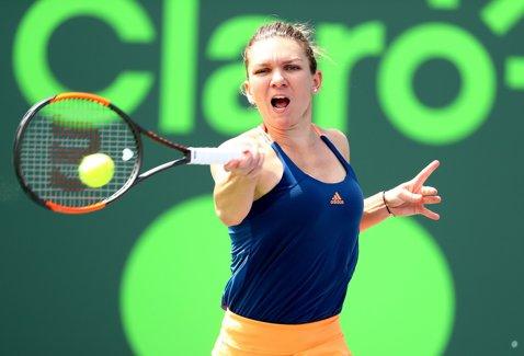 Simona trece un test dificil şi se califică în turul trei la Miami! Halep a învins-o pe talentata Osaka, scor 6-4, 2-6, 6-3