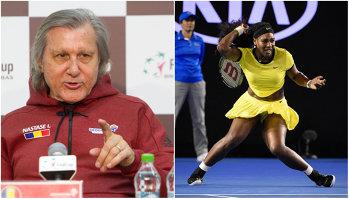 """Ilie Năstase face declaraţii scandaloase despre Serena Williams şi dopaj: """"Nu vedeţi cum arată? E cam sigură treaba şi la ea"""""""