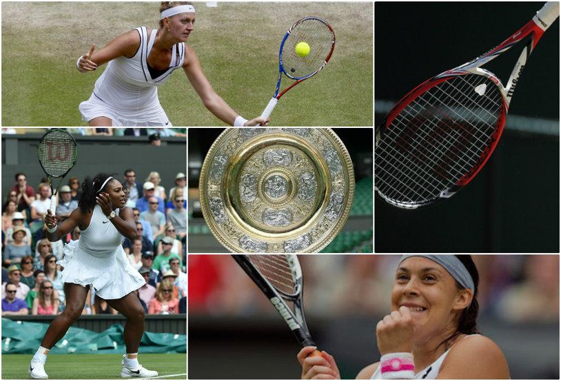 """""""Wilson Wins Wimbledon"""". Regula nescrisă la All England Club: dominaţia totală impusă de producătorul american asupra competiţiei feminine. """"Racheta Wilson, în general, răsplăteşte jocul agresiv, mai drept, mai tăios, ca cel de pe iarbă"""""""