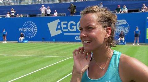 VIDEO | Moment amuzant la turneul de tenis de la Birmingham. Reacţia acestei jucătoare după ce un fan a invitat-o în oraş la finalul meciului