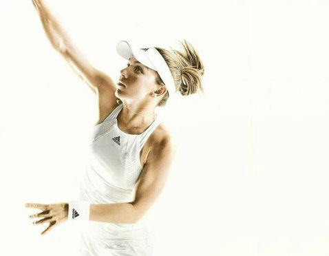 FOTO | Clasic, dar modern. Simona Halep a primit echipamentul pentru turneul de la Wimbledon