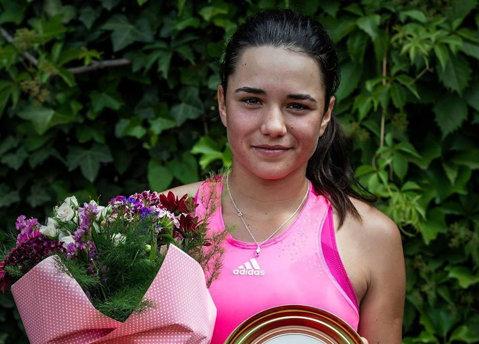 """""""Oportunitate de a învăţa"""". La Târgu Jiu, Miriam Bulgaru a jucat prima finală de turneu ITF la simplu, pe 2017"""