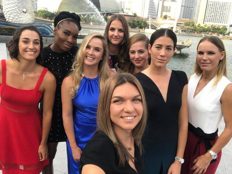 Turneul Campioanelor,  tragerea la sorţi: ŞTIM GRUPA Simonei Halep. Românca are, per total, 6 victorii şi 6 înfrângeri în faţa adversarelor din Grupa ROŞIE, dar trebuie să îmbunătăţească recordul pe 2017: 2-4 | FOTO şi VIDEO