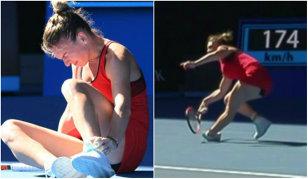 """""""Dacă Halep mai câştigă Australian Open după faza asta..."""" Imagini horror cu piciorul Simonei"""