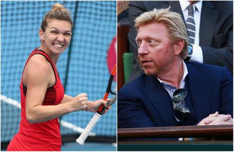 """Simona Halep are un fan de lux la Australian Open! Boris Becker, declaraţie minunată: """"Aş fi foarte bucuros dacă Simona ar câştiga turneul! Nimeni nu mai aleargă atâţia kilometri pe teren"""""""