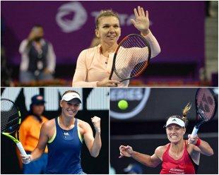 Doza amăruie de la Doha: Simona Halep a câştigat pe teren, dar a fost învinsă de durere. Românca s-a retras înainte de semifinale, iar Muguruza merge direct în finală. Wozniacki a câştigat derby-ul cu 'Angie' Kerber şi rămâne numărul 1 WTA