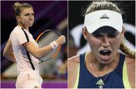 Diferenţă ca de la cer la pământ între Halep şi Wozniacki! Gestul superb prin care Simona şi-a arătat respectul faţă de ultima adversară de la Doha