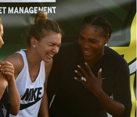 FOTO | Mesajul Simonei pentru Serena Williams, după meciul caritabil jucat la Miami