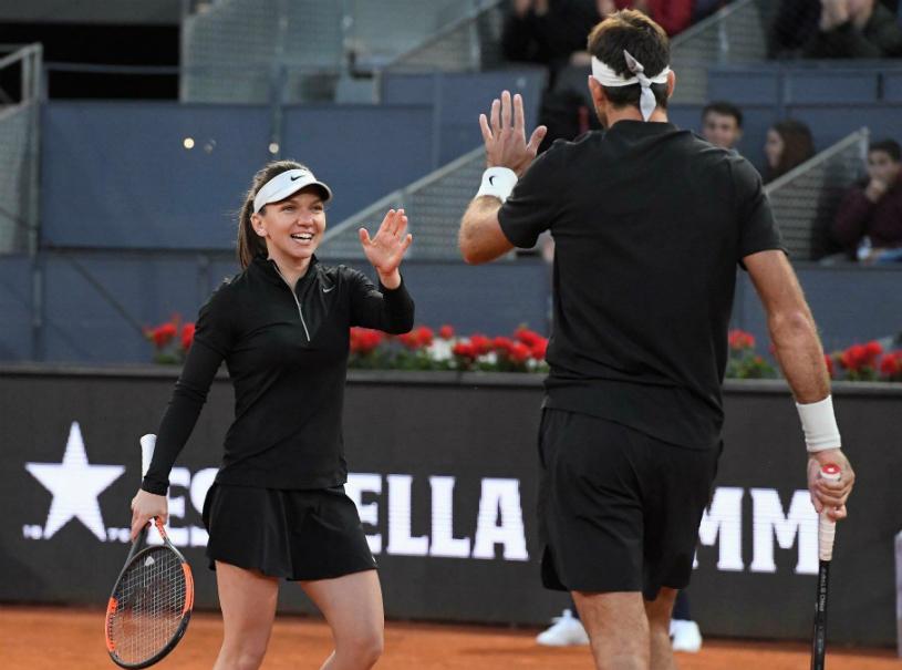 Show total la turneul caritabil jucat de Simona la Madrid. Halep a avut un partener celebru la dublu-mixt şi a făcut-o pe Azarenka să îşi pună mâinile în cap | FOTO şi VIDEO