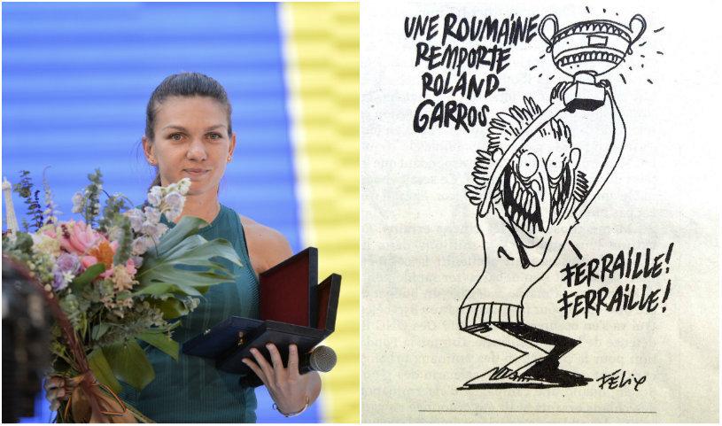 """O celebră revistă franceză, derapaj incredibil la adresa Simonei Halep: """"O româncă a câştigat la Roland Garros. Fier vechi, fier vechi!"""" Cum a fost ilustrat triumful istoric"""