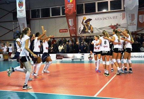 Volei | Alba Blaj a obţinut prima victorie în grupele Ligii Campionilor