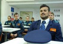 """FOTO: Cadu, în rol de poliţist la Cluj. """"E mult mai greu decât pe teren"""""""
