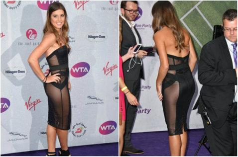 I-a lăsat pe toţi cu gura căscată! Sorana s-a îmbrăcat într-o rochie transparentă la petrecerea jucătoarelor de la Wimbledon