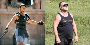 """FOTO Russell Crowe nu mai e deloc """"Gladiator"""". Cum arată acum cunoscutul actor"""