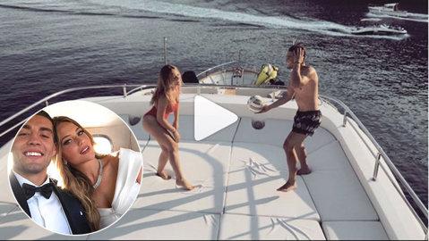 """Kovacic a ales bine :) VIDEO Cum se """"antrenează"""" starul Realului şi noua sa soţie în luna de miere"""