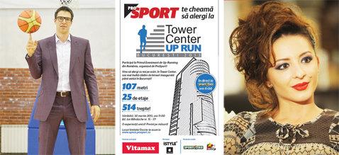 Stairway  to Heaven! Ana Brânză şi Virgil Stănescu participă la concursul ProSport de urcat scări de la Tower Center, clădirea înaltă de 107 metri