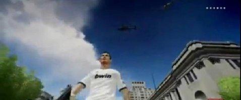 WOW! Cea mai nebună idee: Cristiano Ronaldo, persojanul principal din GTA IV! Starul portughez face senzaţie la volanul unui Aston Martin