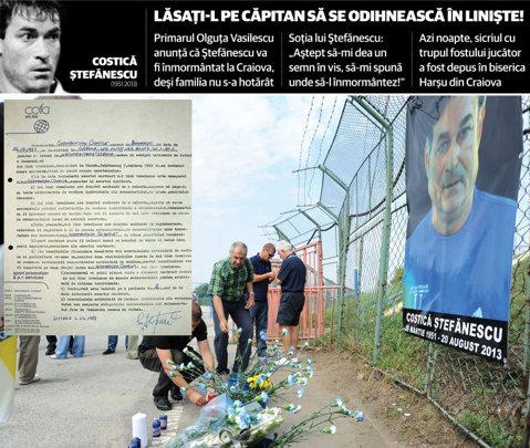 """Legenda revendicată! Primăria din Craiova vrea ca înhumarea lui Ştefănescu să aibă loc în Bănie, familia spune """"nu"""""""