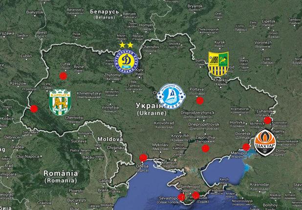 Special Harta Politică A Fotbalului Din Ucraina Patronul Lui
