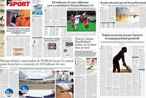 Marţi în ProSport: Cluj Arena, prima arenă din România care produce profit
