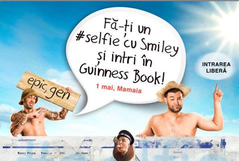 Fa-ti un #selfie cu Smiley si intri in Guinness Book
