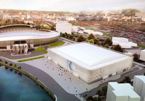 Noua Sală Polivalentă din Cluj-Napoca, finalizată în proporţie de 95 la sută