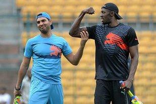 IMAGINEA ZILEI   Insane Usain. Bolt a jucat într-un meci demonstrativ de cricket