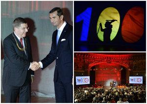 Centenarul olimpismului: omagiu adus valorilor româneşti. Patrick Hickey, Thomas Bach şi Traian Băsescu, prezenţi la eveniment | FOTO