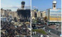 Trei fotografii pentru istorie. IMAGINI surprinse astăzi la Kiev. Ce se întâmplă acum în Piaţa Independenţei