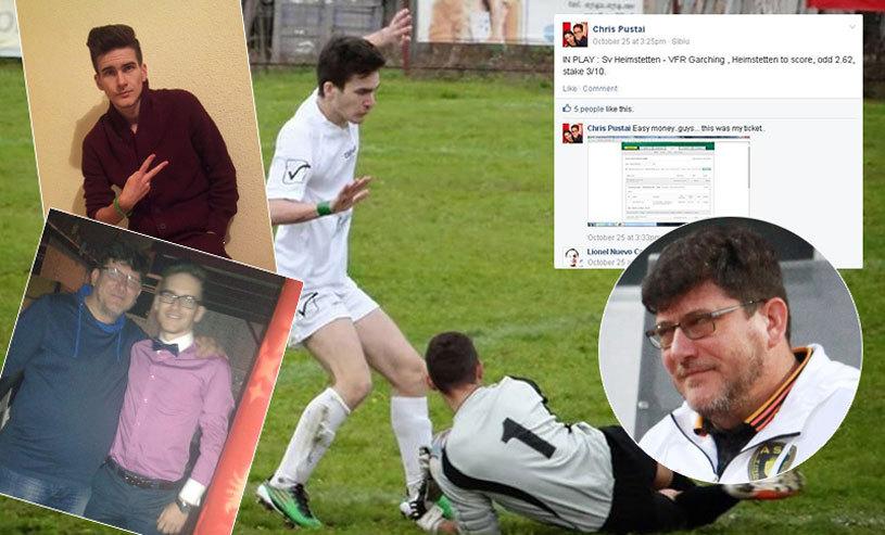 """""""Job"""" INTERZIS   Fiul antrenorului Cristi Pustai, tipster-fotbalist pe Facebook: """"Tata mai paria şi el"""". Ultimul pont, pentru prieteni, la meciul tatălui său: """"Bate ASA pe Steaua"""""""