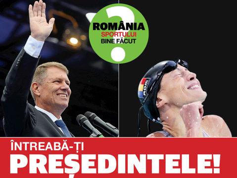 """Vom avea România sportului bine făcut? Campionii îşi întreabă preşedintele. Camelia Potec: """"În ce măsură aţi fi dispus să patronaţi un grup de lucru care să dea României o strategie naţională a sportului?"""""""