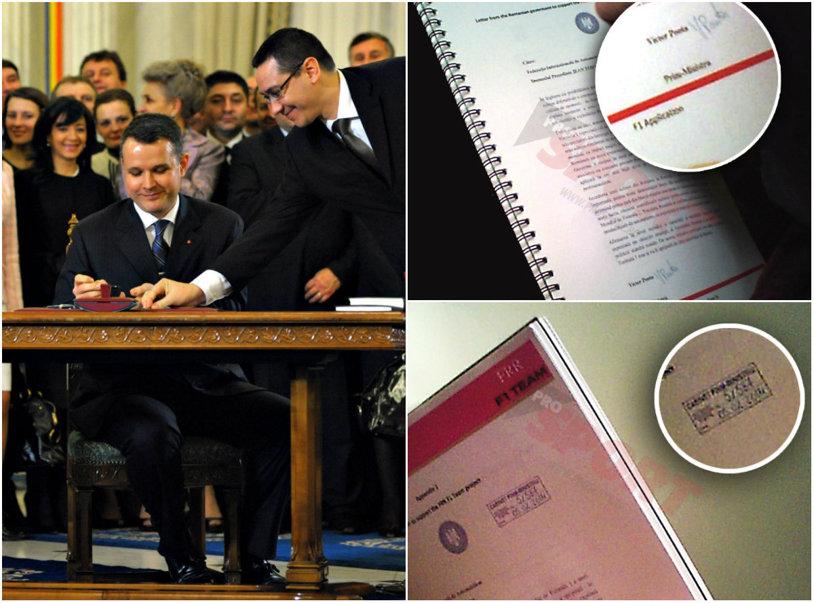 Dovada că Victor Ponta a minţit în cazul Forza Rossa. În noiembrie a spus că nu a semnat acte din dosarul echipei româneşti de Formula 1, ProSport dovedeşte contrariul: actul 5/587 din 5 februarie 2014 | VIDEO