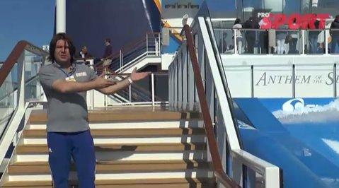 VIDEO REPORTAJ | 3 minute şi 42 de secunde. Incursiune pe un vas de croazieră lansat în Southampton